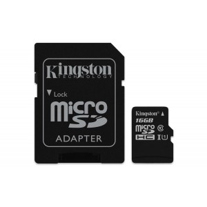 Kingston SDCS 16GB MicroSD HC Canvas Select 80 MB   s Lectura amb Adaptador SD
