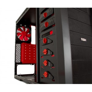 NOX NXCBAYSXR Mid-Tower Negra Roja Reacondicionat