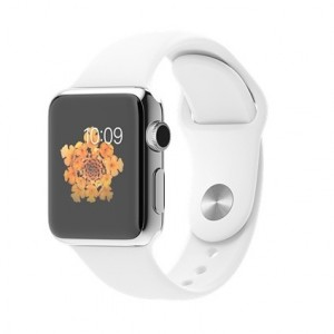 Apple Watch (Sèrie 1) 38 mm, Aluminium Blanco, Polsera Esportiva