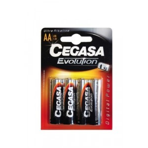 Cegasa Evolution - Pack 4 Piles AA LR6 1,5 V