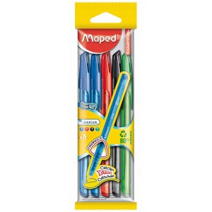 Maped 224405 Pack Bolígrafs Multicolor