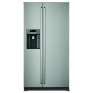 Electrolux EAL6140WOU 1,78M A + Inox Frost Free Side by Side Grau B Reacondicionat